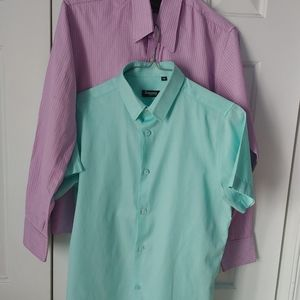 2 dress Shirt for Youth Size M 14 years